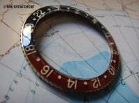 SOLD RARE ORIGINAL BAKELITE BEZEL FOR GMT 6542 - Imagen 2