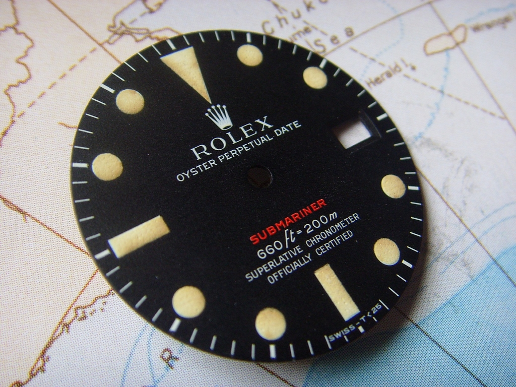 1970s MKIV BEAUTIFUL ROLEX 1680 RED SUBMARINER DIAL - Imagen 3