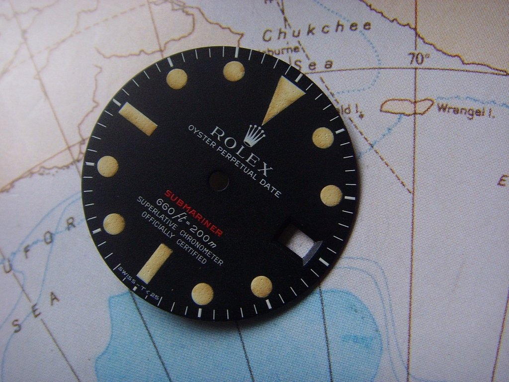 1970s MKIV BEAUTIFUL ROLEX 1680 RED SUBMARINER DIAL - Imagen 6