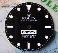 RARE ROLEX 5513 5514 COMEX SERVICE DIAL & HANDS