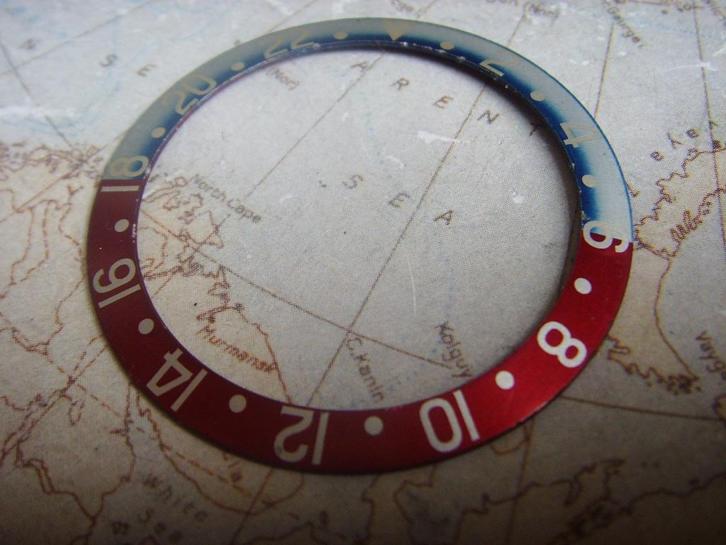 1970s 1980s ROLEX GMT 1675 16750 PEPSI BEZEL INSERT - Imagen 2