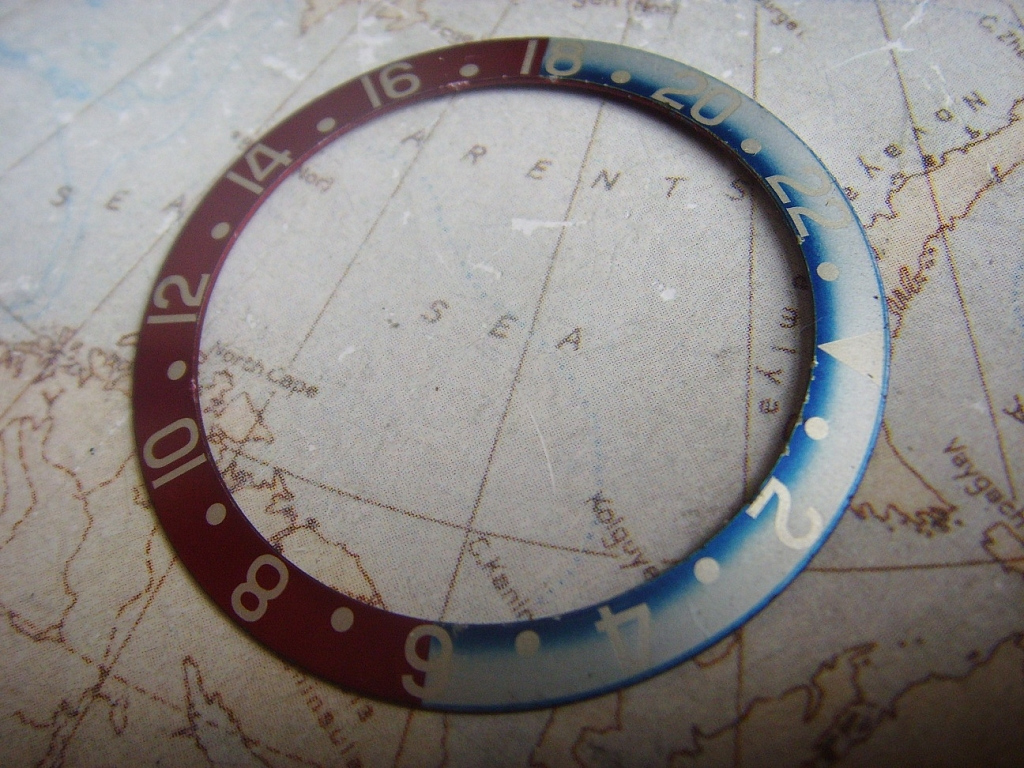 1970s 1980s ROLEX GMT 1675 16750 PEPSI BEZEL INSERT - Imagen 3
