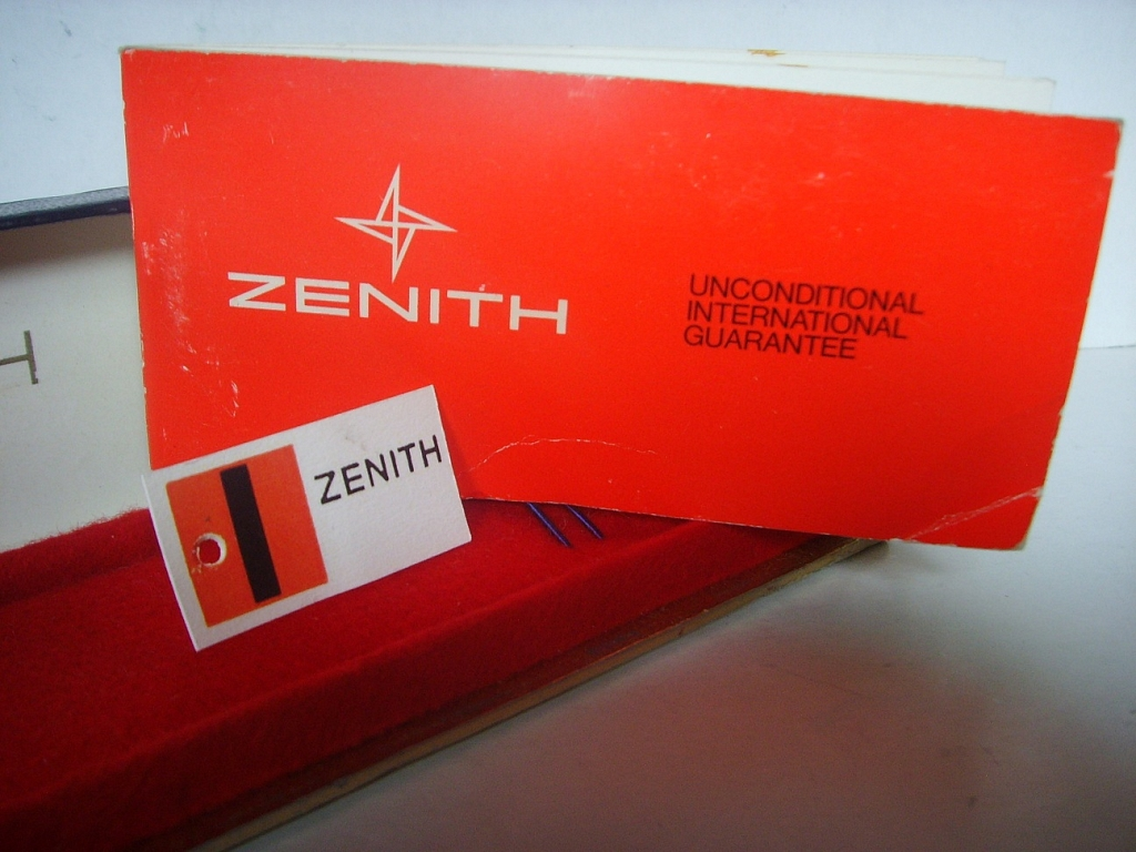 ZENITH EL PRIMERO 3019 BOX, TAG AND BLANK PAPERS - Imagen 3