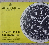 1960s BREITLING 806 NAVITIMER MANUAL (FRENCH)