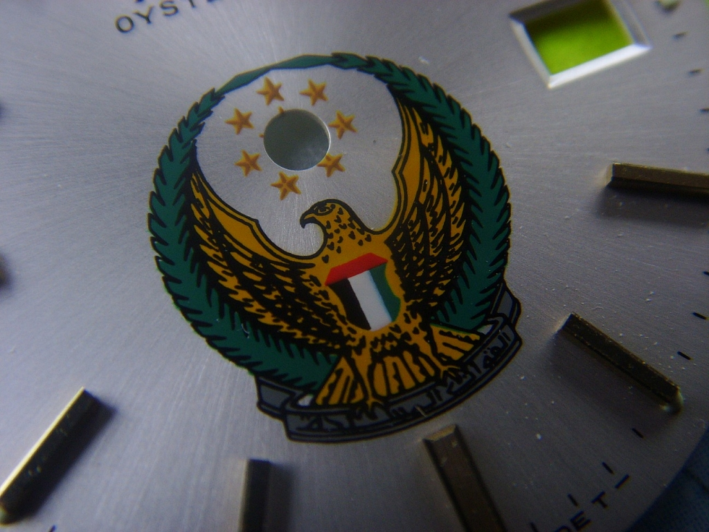 1960s - 1970s VERY RARE ROLEX OYSTER DATE PRECISION UNITED ARAB EMIRATES LOGO DIAL - Imagen 2
