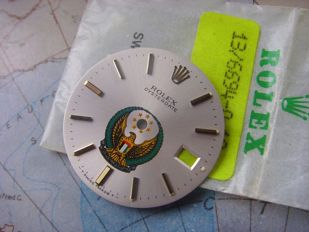 1960s - 1970s VERY RARE ROLEX OYSTER DATE PRECISION UNITED ARAB EMIRATES LOGO DIAL - Imagen 4