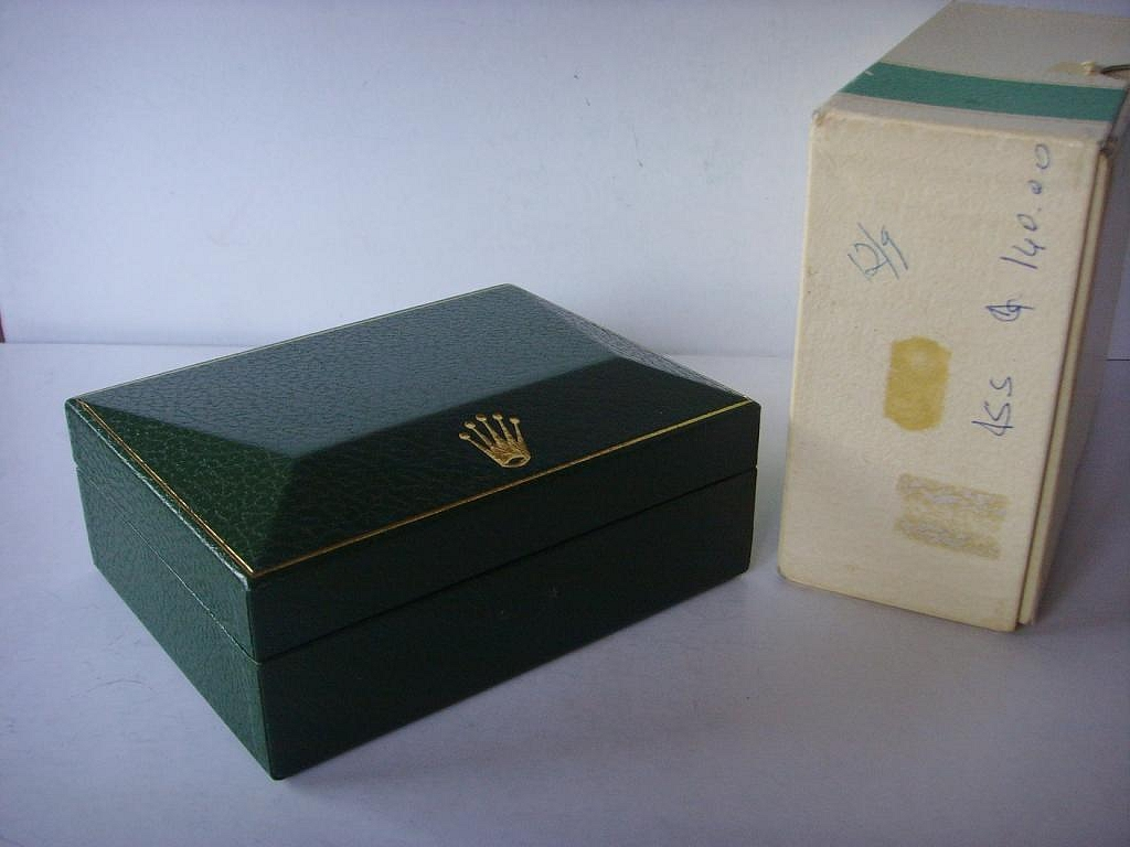 1960s - 1970s ROLEX SPORTS GREEN STRIPE BOXES 1680 RED SUBMARINER - Imagen 2