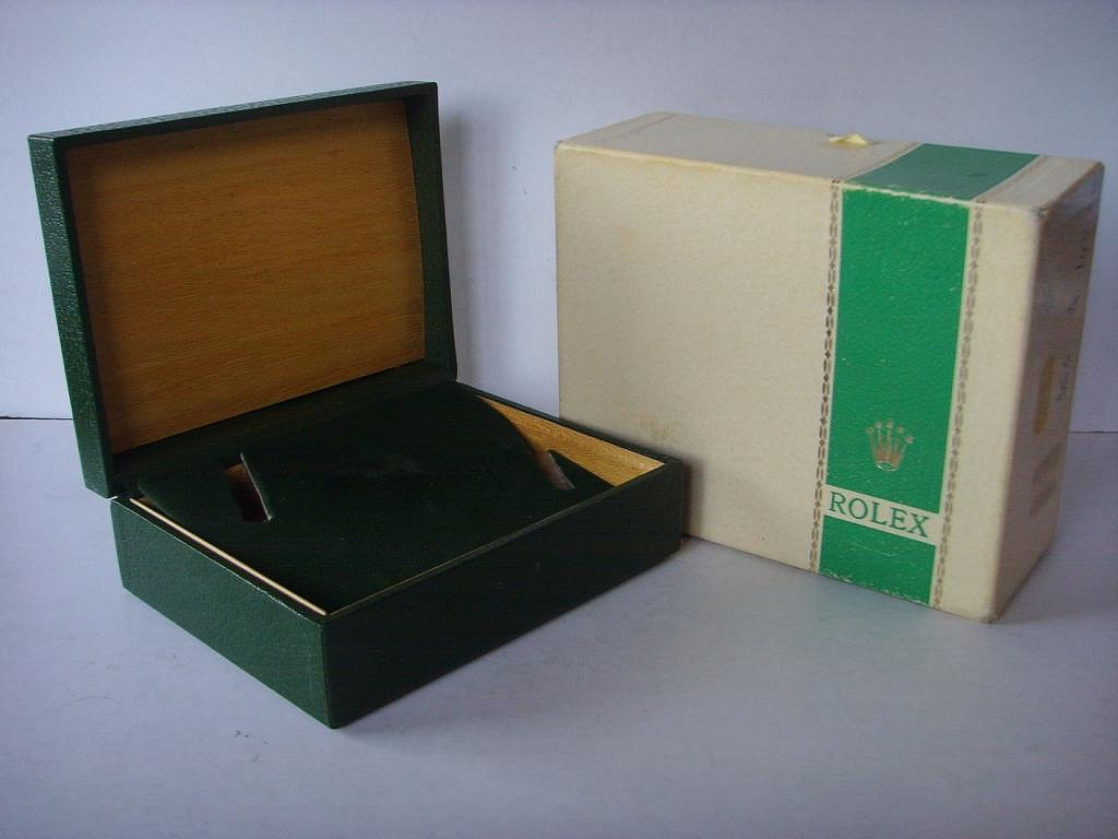 1960s - 1970s ROLEX SPORTS GREEN STRIPE BOXES 1680 RED SUBMARINER - Imagen 3