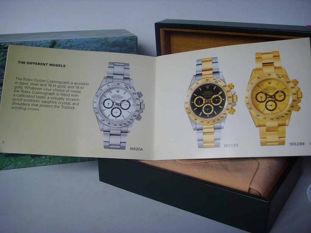 ROLEX DAYTONA ZENITH REF 16520 DOUBLE BOX & BOOKLET - Imagen 4