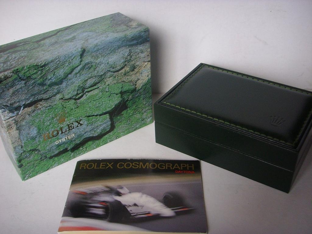 ROLEX DAYTONA ZENITH REF 16520 DOUBLE BOX & BOOKLET - Imagen 5