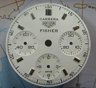 HEUER CARRERA 12 REF 2447 FISCHER DIAL