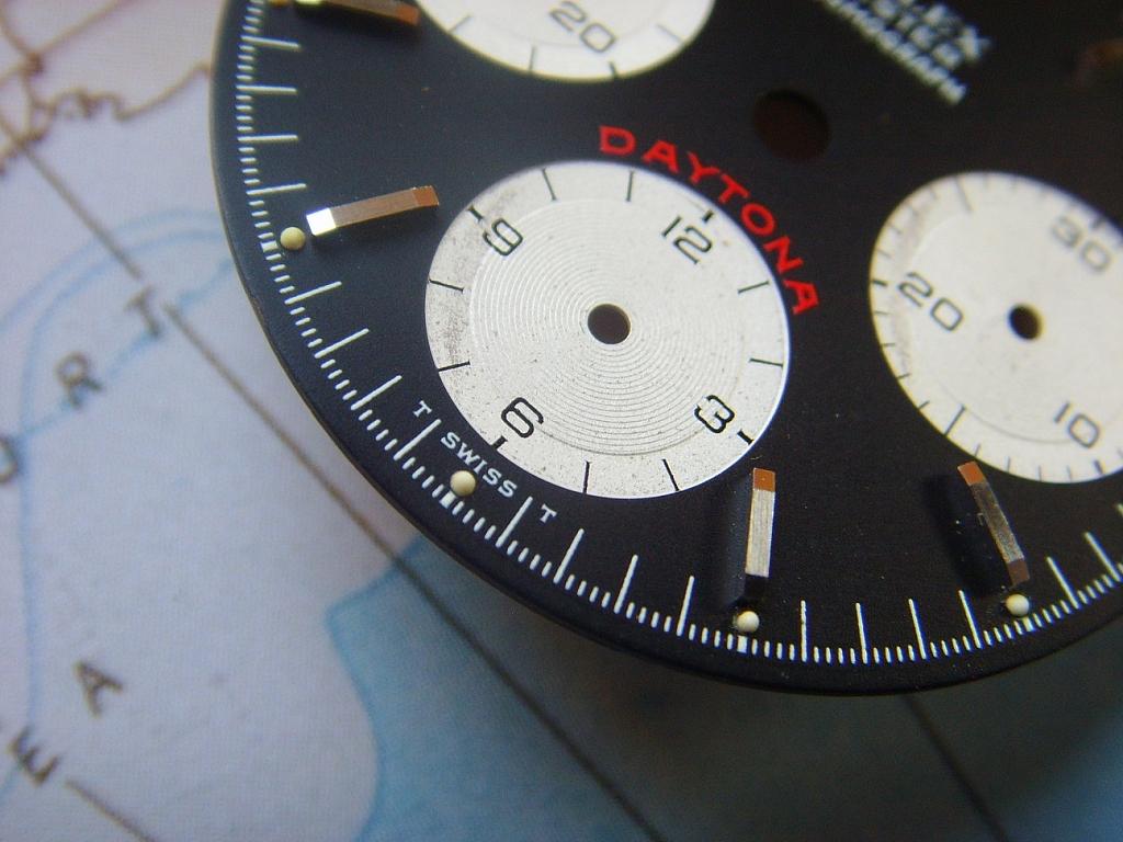 1970s ROLEX DAYTONA 6263 6265 BIG RED DIAL (TRITIUM) - Imagen 6