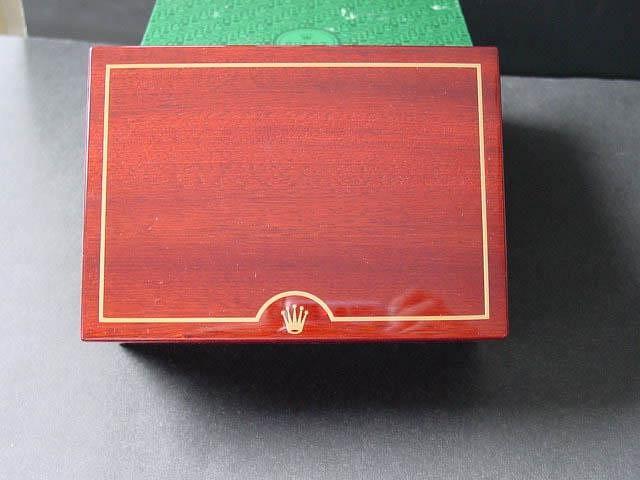 1990s ROLEX 16528 DAYTONA ZENITH GOLD TEAK INNER & OUTER BOXES - Imagen 5